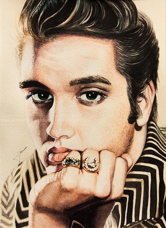 Elvis Presley by JanssenArt